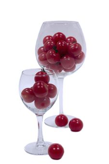 Free Cherry Tomatoes In Glasses Stock Photos - 31803473