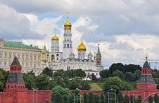 Moscow Kremlin Panorama Stock Images