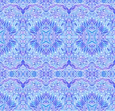 Free Blue Ornate Vector Seamless Pattern Royalty Free Stock Photos - 31804098