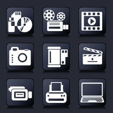 Free Photo Video Icons Royalty Free Stock Image - 31806406