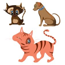 Free Cat And Dog Cartoon Characters Stock Photos - 31808223