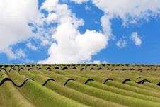 Free White Clouds In Blue Sky Above Roof Of House Royalty Free Stock Photos - 31808418