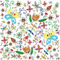 Free Vector Summer Floral Background Royalty Free Stock Photos - 31810518