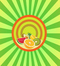 Free Set The Cut Fruit In Round Frame Stock Photos - 31818573