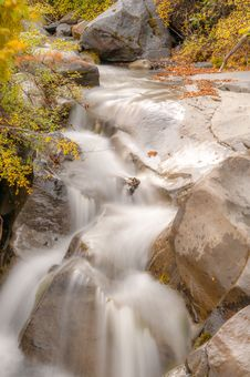 Free Clear Water Waterfall In Autumn Royalty Free Stock Photo - 31814395