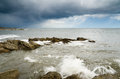 Free Storm Over Newbiggin By The Sea Royalty Free Stock Images - 31827829