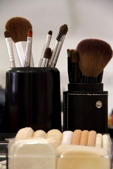 Professional Cosmetic Brush Stock Photo