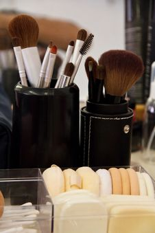 Professional Cosmetic Brush Stock Image