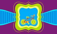 Bicycle On A Label Template Background Royalty Free Stock Images