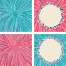 Free Set Of Colorful Frame And Background With Leaves Royalty Free Stock Images - 31833729