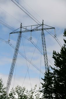 Free High Voltage Mast Stock Image - 31833991
