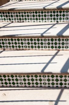 Free Spanish Stairs With Mosaic Tiles. Stock Photo - 31834690