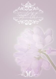 Free Vintage Flower Greating Card Royalty Free Stock Photos - 31848918