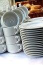 Free White Plates Stock Image - 31851631