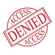 Free Access Denied Royalty Free Stock Photos - 31850418