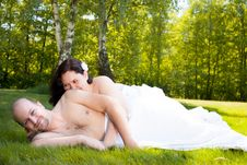 Free Romance On The Field Royalty Free Stock Images - 31850989