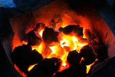 Free Burning Wood In Hot Stove Stock Image - 31851391