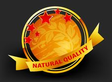 Free Natural Label Royalty Free Stock Photography - 31851517