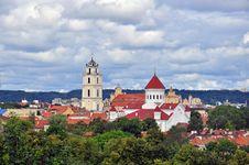 Free Panorama Of Vilnius Royalty Free Stock Photo - 31854015