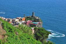 Free Cinque Terre Top View Stock Image - 31854351