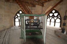 Old Tower Clock Mechanism. Stock Photo