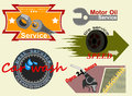 Free Motor Badges Label Royalty Free Stock Images - 31867549