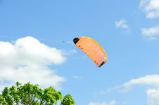 Free Kite Flying On Background Of Blue Sky With Clouds. Royalty Free Stock Photography - 31860587