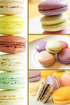 Free Pastel Colored Macarons Collection Set Royalty Free Stock Photos - 31866658