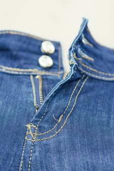 Free Zip On Jeans Stock Photos - 31867773