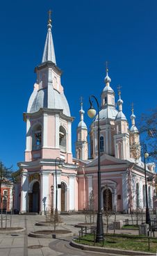 Saint Andrew S Cathedral In Saint Petersburg Royalty Free Stock Image