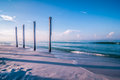 Free Old Pier Pile Support Columns Royalty Free Stock Photo - 31881275