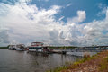 Free House Boats Parked Royalty Free Stock Photos - 31881968