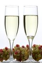 Free White Wine Glasses And Grapes Royalty Free Stock Photo - 31885105