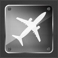 Free Glass Airplane Icon Royalty Free Stock Photography - 31889357