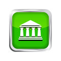 Free Green Bank Icon Royalty Free Stock Photography - 31889717