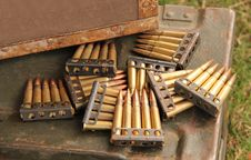 Free Gun Bullets. Royalty Free Stock Photography - 31880577
