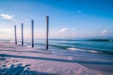 Old Pier Pile Support Columns Royalty Free Stock Photo