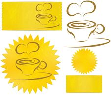 Set Of Icons Coffee Stock Photography