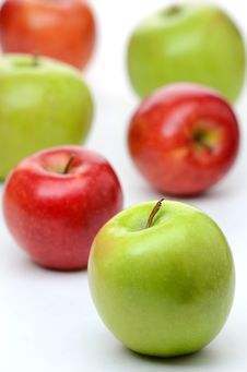Delicious Red And Green Apples Stock Image