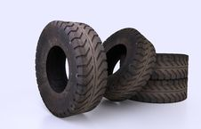 Free Earth Mover Tire Molds Royalty Free Stock Image - 31885616