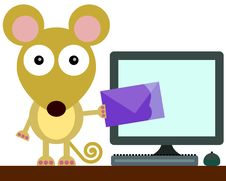 Free Mouse Email Royalty Free Stock Photography - 31886437