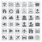 Free Set Of Grey Web, Multimedia And Business Icons Royalty Free Stock Photography - 31889447