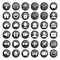 Free Set Of Black Web, Multimedia And Business Icons Stock Image - 31889591
