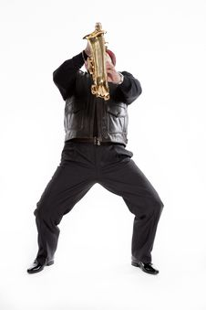 Free Saxophonist With A Bristle Stock Images - 31896424