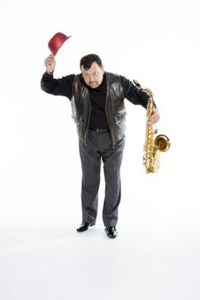 Free Saxophonist With A Bristle Royalty Free Stock Images - 31896489