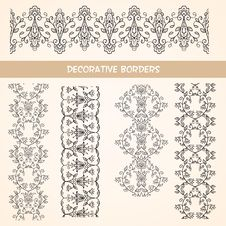 Free Decorative Lace Floral Borders. Royalty Free Stock Photography - 31897537