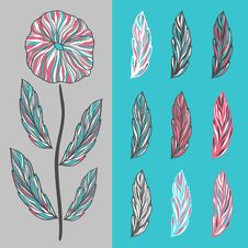 Free Abstract Flower And Leaves Stock Images - 31899304