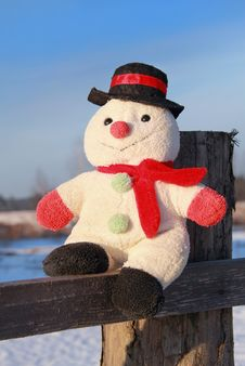 Free Funny Toy Snowman Royalty Free Stock Photos - 31899868