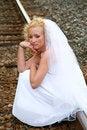 Free Bride Sitting Down Stock Image - 3192721