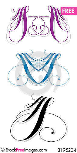 Free Calligraphic Stroke Stock Images - 3195204